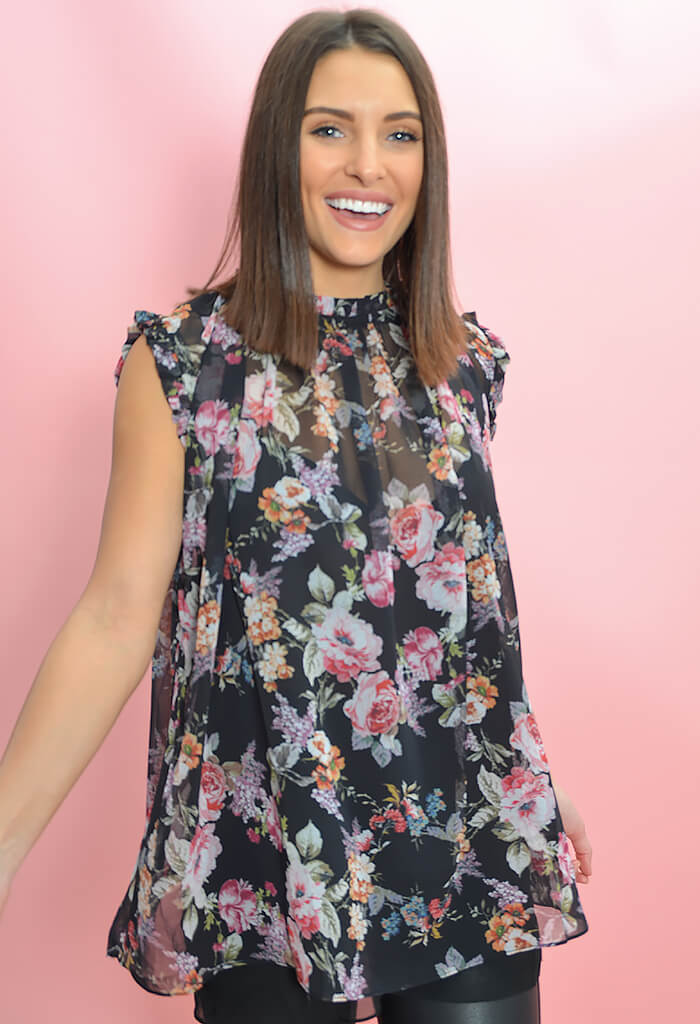 KK Bloom Boutique French Blossoms Tunic-full length