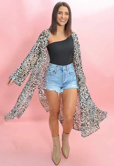 Buddy Love Macie Midi Duster in Lagos Print-full length