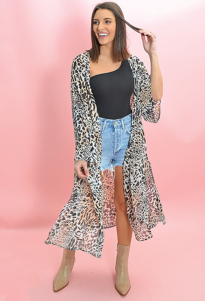Buddy Love Macie Midi Duster in Lagos Print-front