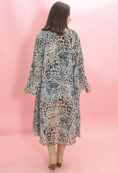 Buddy Love Macie Midi Duster in Lagos Print-back