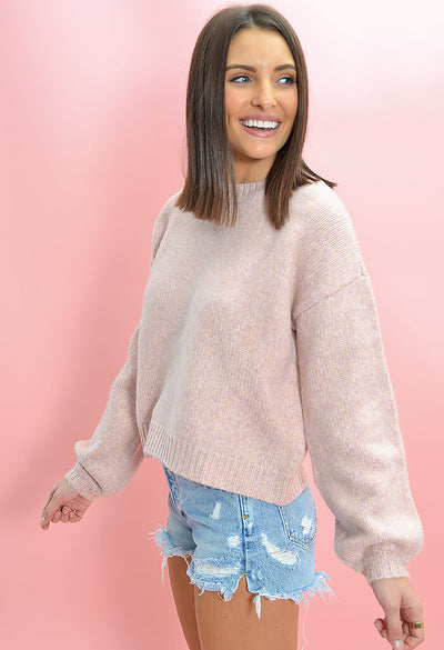 Minkpink Karter Knit Sweater in Lilac-side