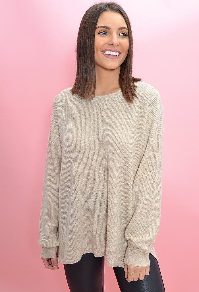 KK Bloom Boutique Maddie Sweater in Oatmeal-front