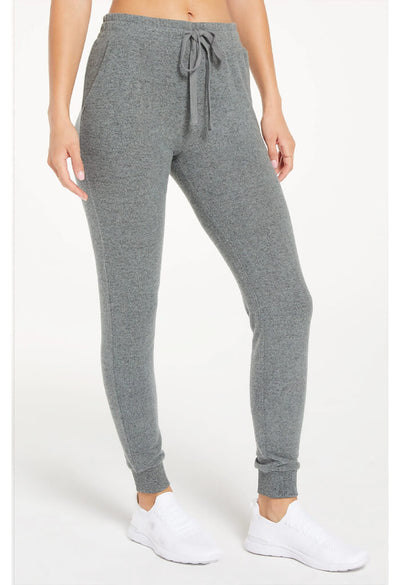Z Supply Marled Jogger in Heather Grey-side