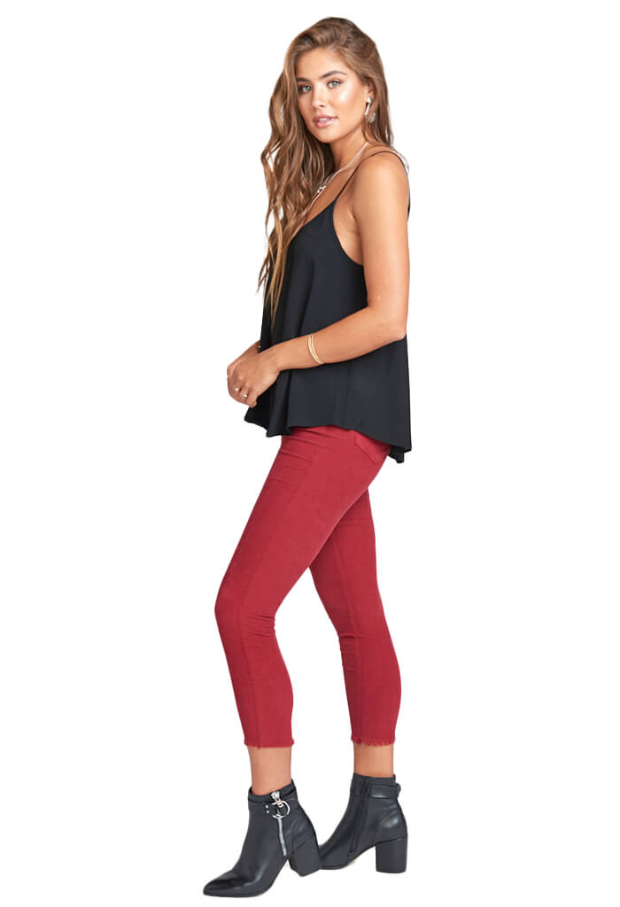 Show Me Your Mumu Soho Skinnies - Stretch Corduroy Wino