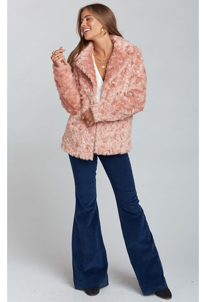 Park Ave Jacket ~ Mauve Faux Fur