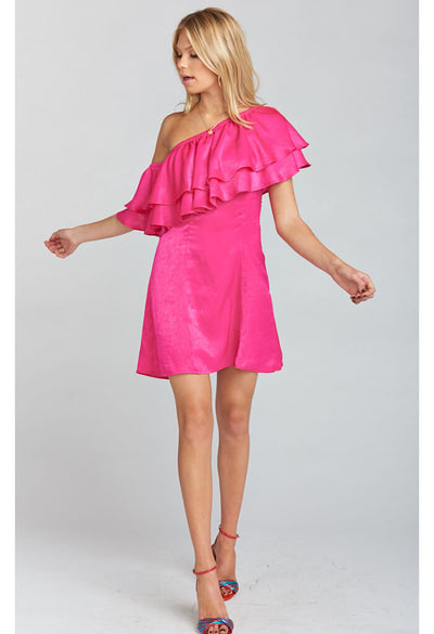 Brooke Mini Dress ~ Flirty Fuchsia Sheen