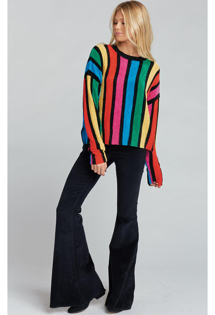 Jesse Sweater ~ Rainbow Parade Knit