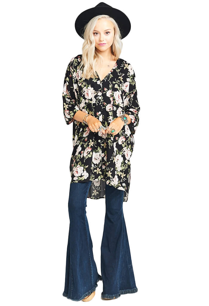 Show Me Your Mumu The Artiste Tunic - Courtney Loves Roses Cloud-front