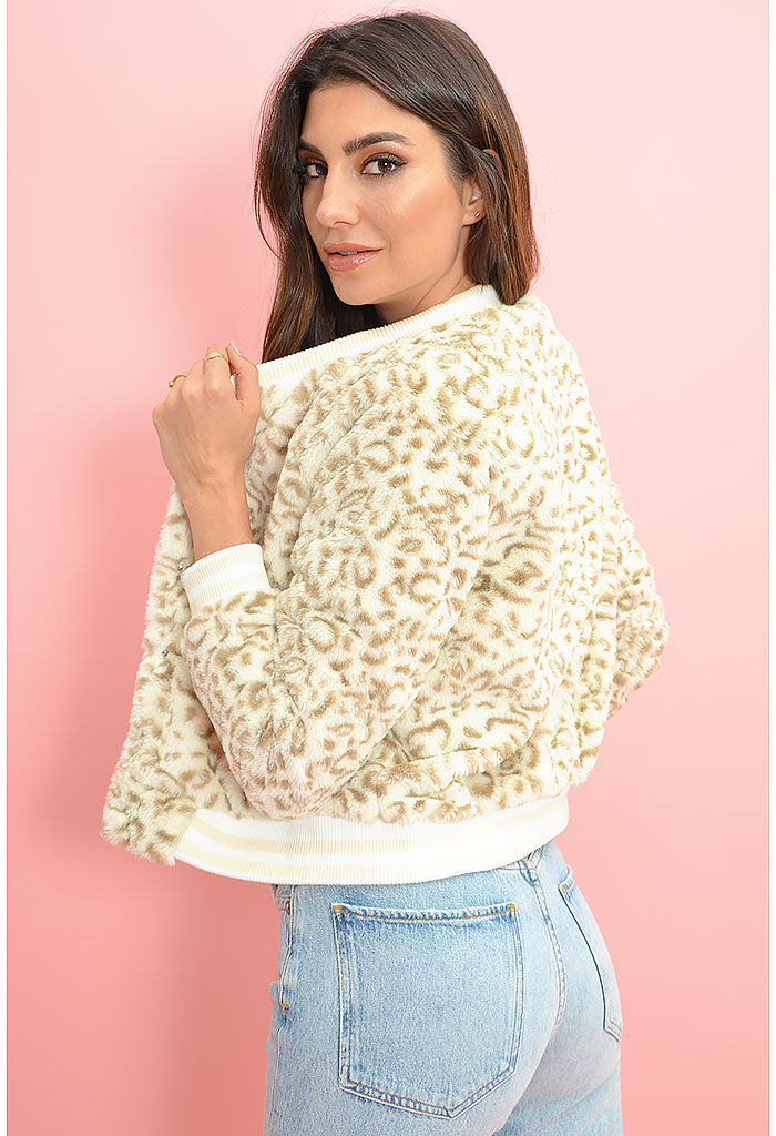 Lena Jacket-Snow Leopard