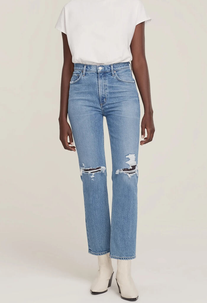 Agolde Wilder Mid Rise Comfort Jean in Whiplash-front