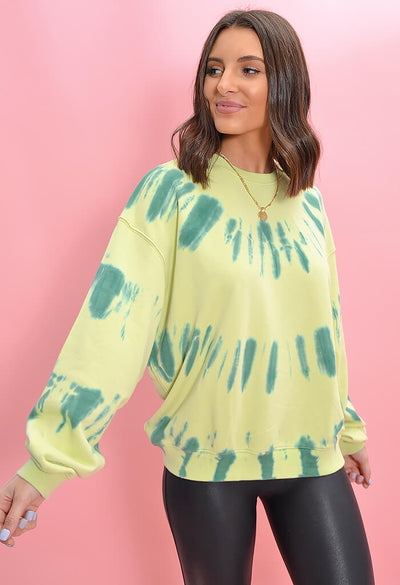 Tie Dye Pistachio Party Sweatshirt-side