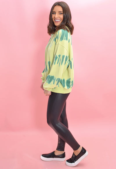 Tie Dye Pistachio Party Sweatshirt-full length
