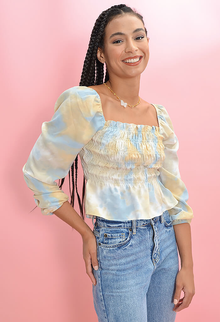 KK Bloom Boutique Tie Dye Dream Blouse-front