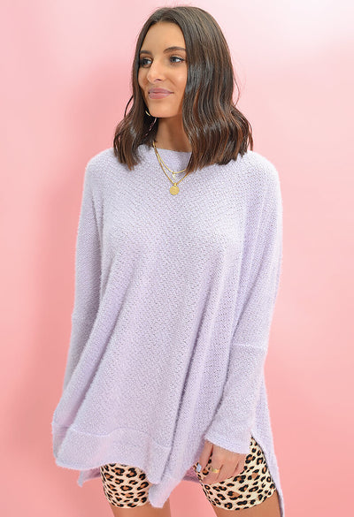 KK Bloom Boutique Cozy Tunic in Grape-front