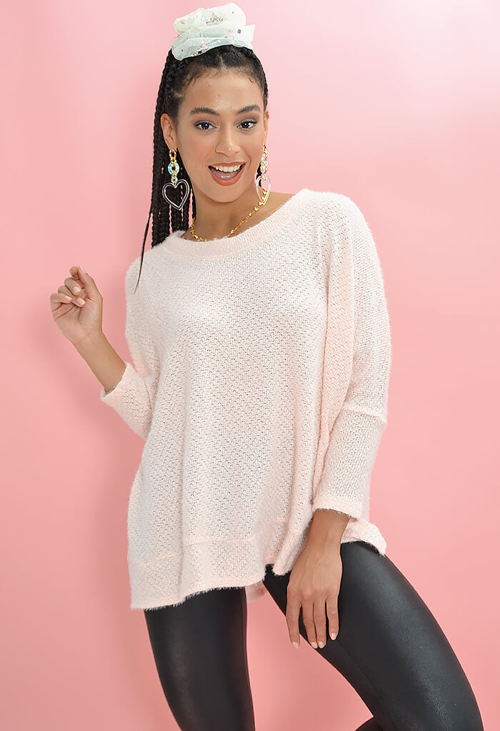 KK Bloom Boutique Cozy Tunic in Blush-front