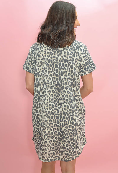 KK Bloom Boutique Leopard Print Desert Storm Dress-back