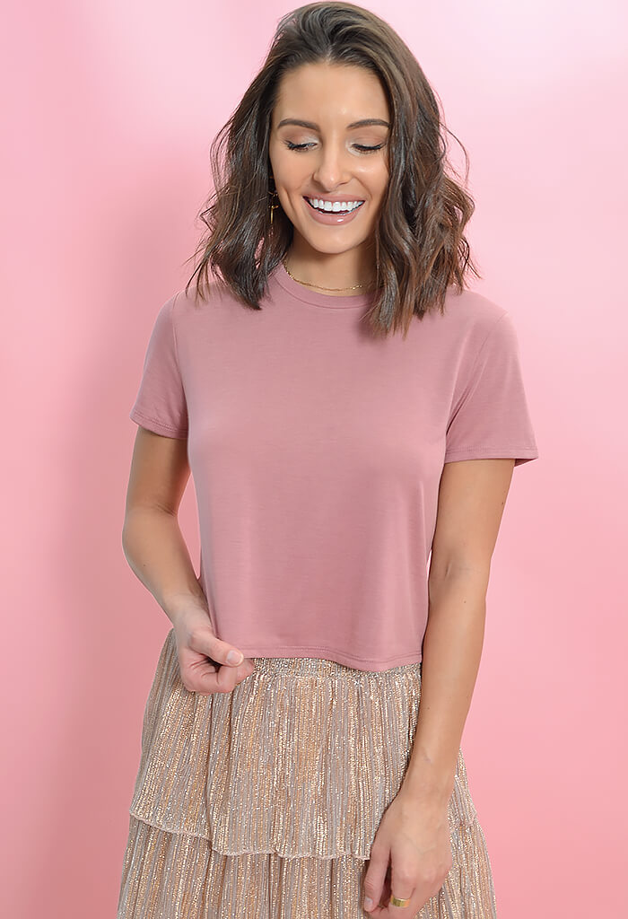 KK Bloom Boutique Rosewater Tee-front