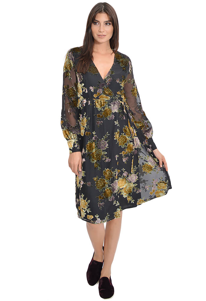 ASTR Floral Sonya Dress-front