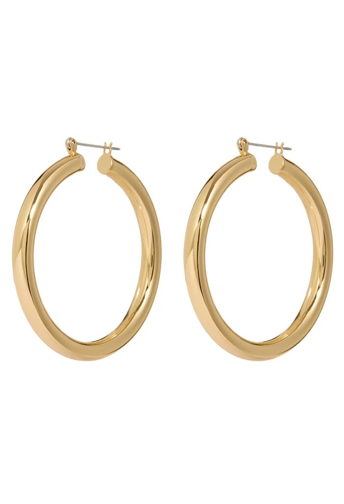 LUV AJ Amalfi Tube Hoops-Gold