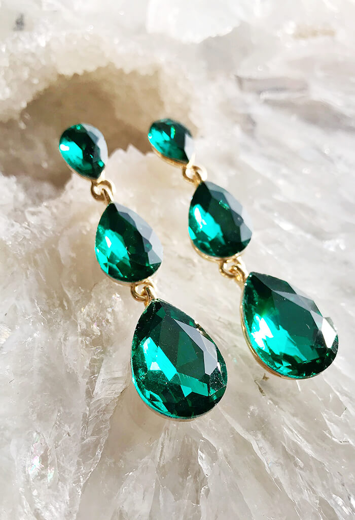 Emerald Hours Earring