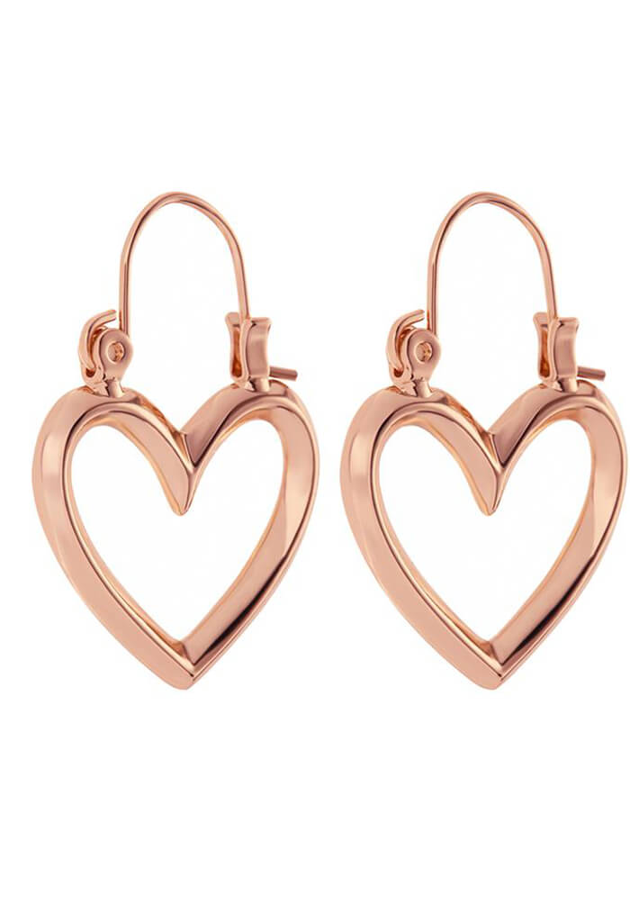 Mini Heartbreaker Hoops - Rose Gold