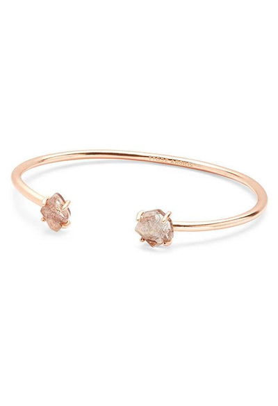 Merida Rose Gold Pinch Cuff Bracelet in Sable Mica