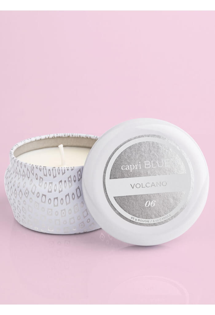 Capri Blue Volcano White Mini Tin-3oz