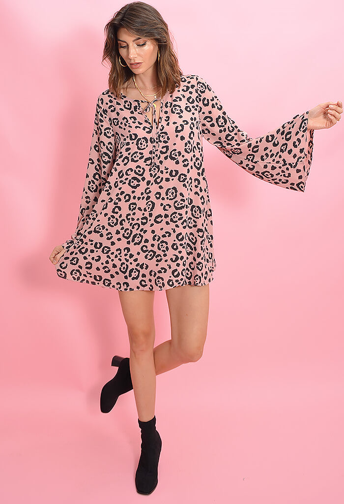 Buddy Love Tanna Bell Sleeve Mini Dress-Whiskers
