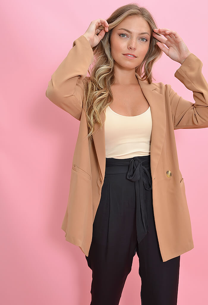 KK Bloom Boutique Chloe Blazer in Camel