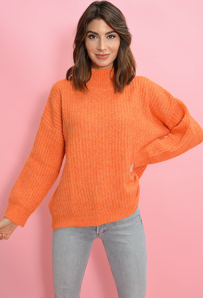FRNCH Orange Neola Sweater