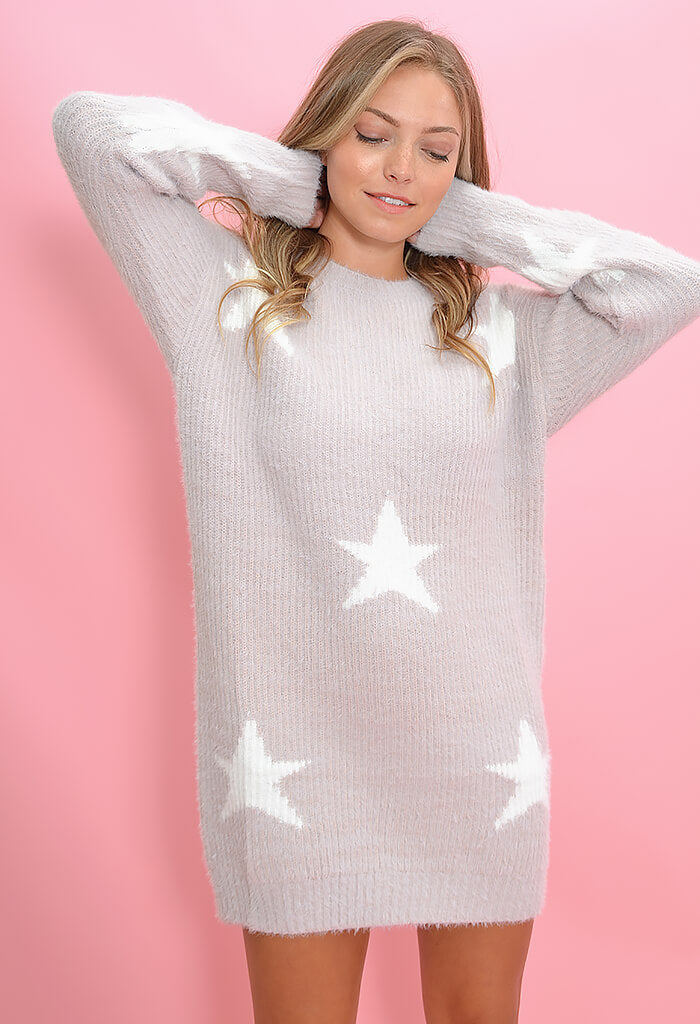 KK Bloom Sweet Dream Sweater Dress in Lilac