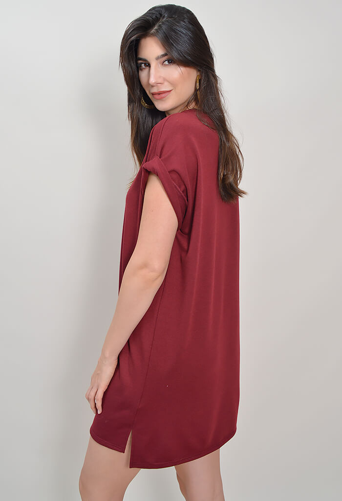 Take Me to Brunch Dress - Burgundy