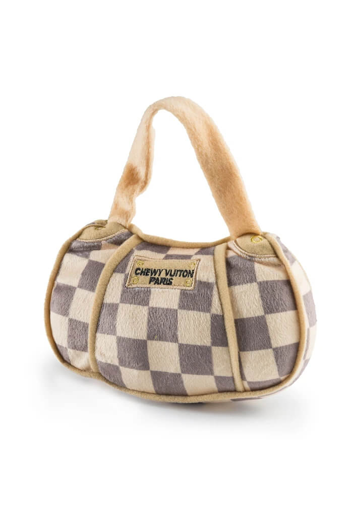Haute Diggity Dog Chewy Vuiton Checker Handbag-Large
