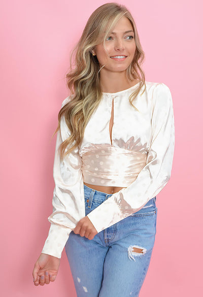 KK Bloom Boutique Champagne Toast Blouse