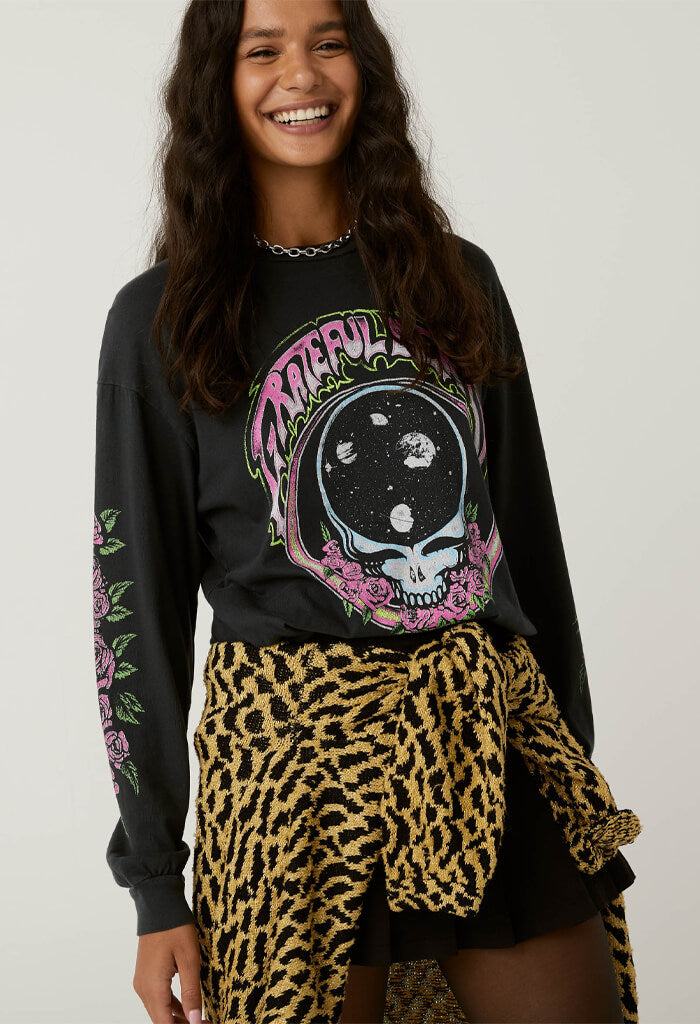 Daydreamer Grateful Dead Space Face Oversized Long Sleeve