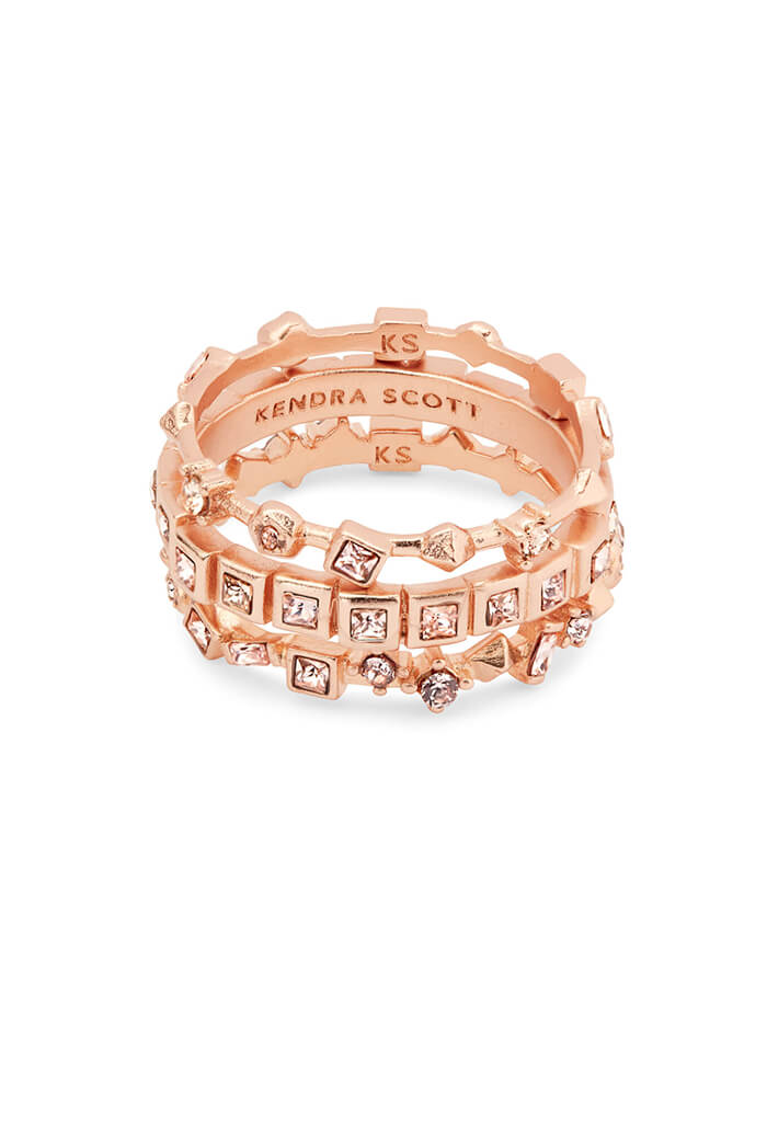 Karis Rose Gold Stackable Ring Set