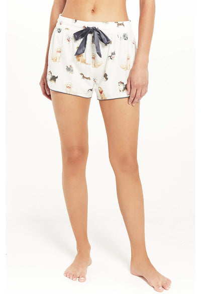 Z Supply Sweet Talker Pup Shorts-Vanilla Ice