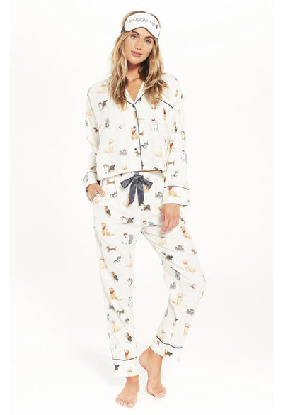 Z Supply Dream State Pup PJ Set-Vanilla Ice