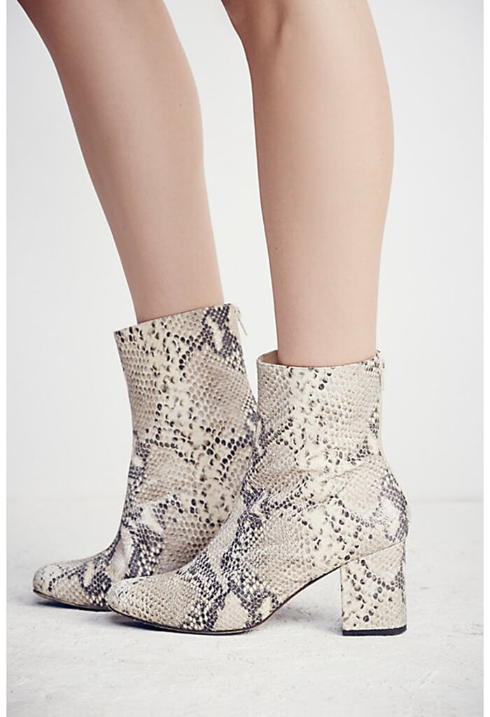 Cecile Ankle Boot - Tan Snake