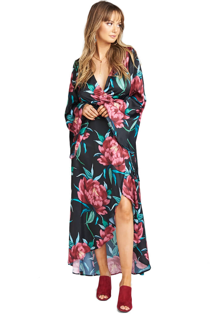 Show Me Your Mumu Anita Wrap Dress - Ruby Bloom