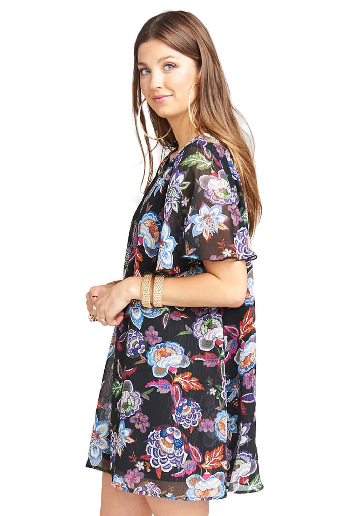 Show Me Your Mumu Jenner Dress City Nights Glimmer-front