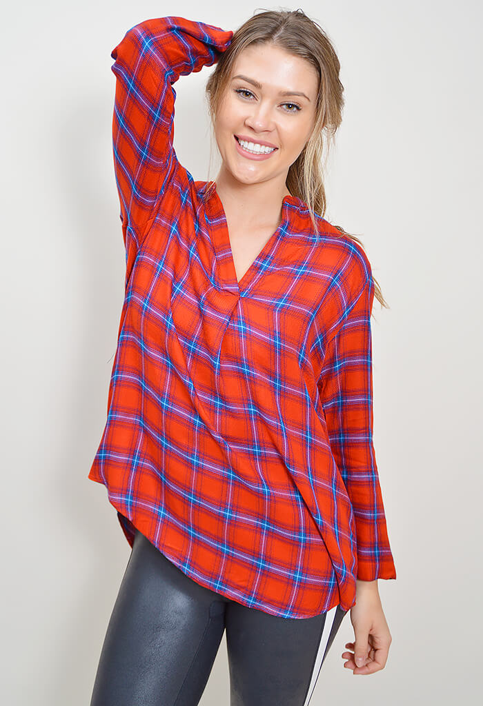 Sublime Plaid Top - Red