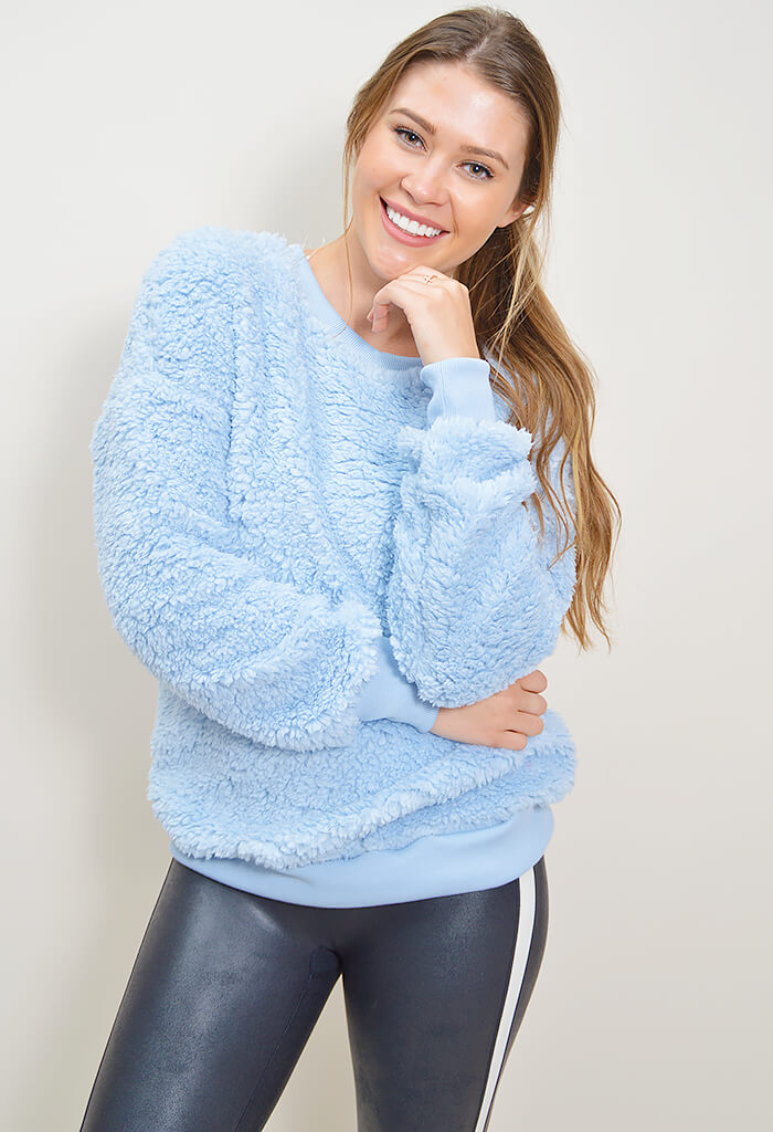 Pillow Talk Pullover - Light Blue