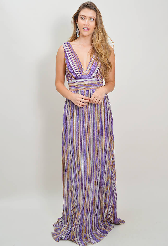 Make Believe Maxi Dress - Purple