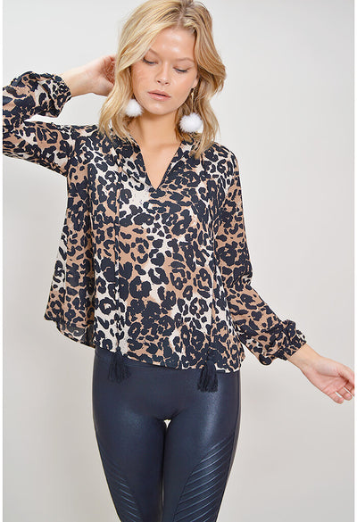 Meredith Blouse - Leopard