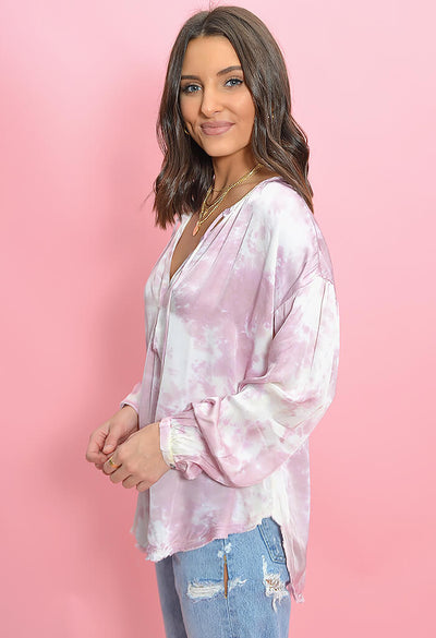 KK Bloom Boutique Cotton Candy Tie Dye Blouse