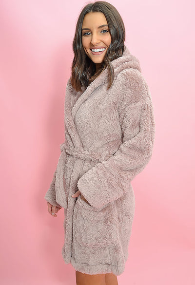 Z Supply Head in the Clouds Robe-Dusty Rose