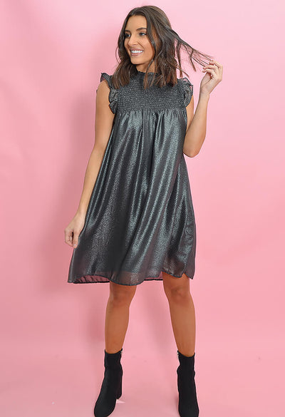 THML Shimmer Shift Dress