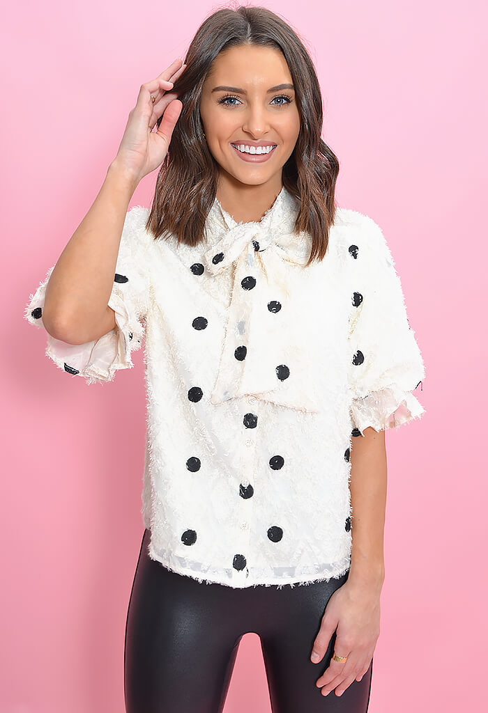 THML Marilyn Dot Blouse