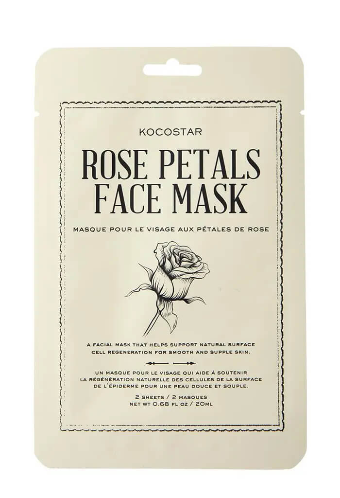 KOCOSTAR Beauty Rose Petals Face mask